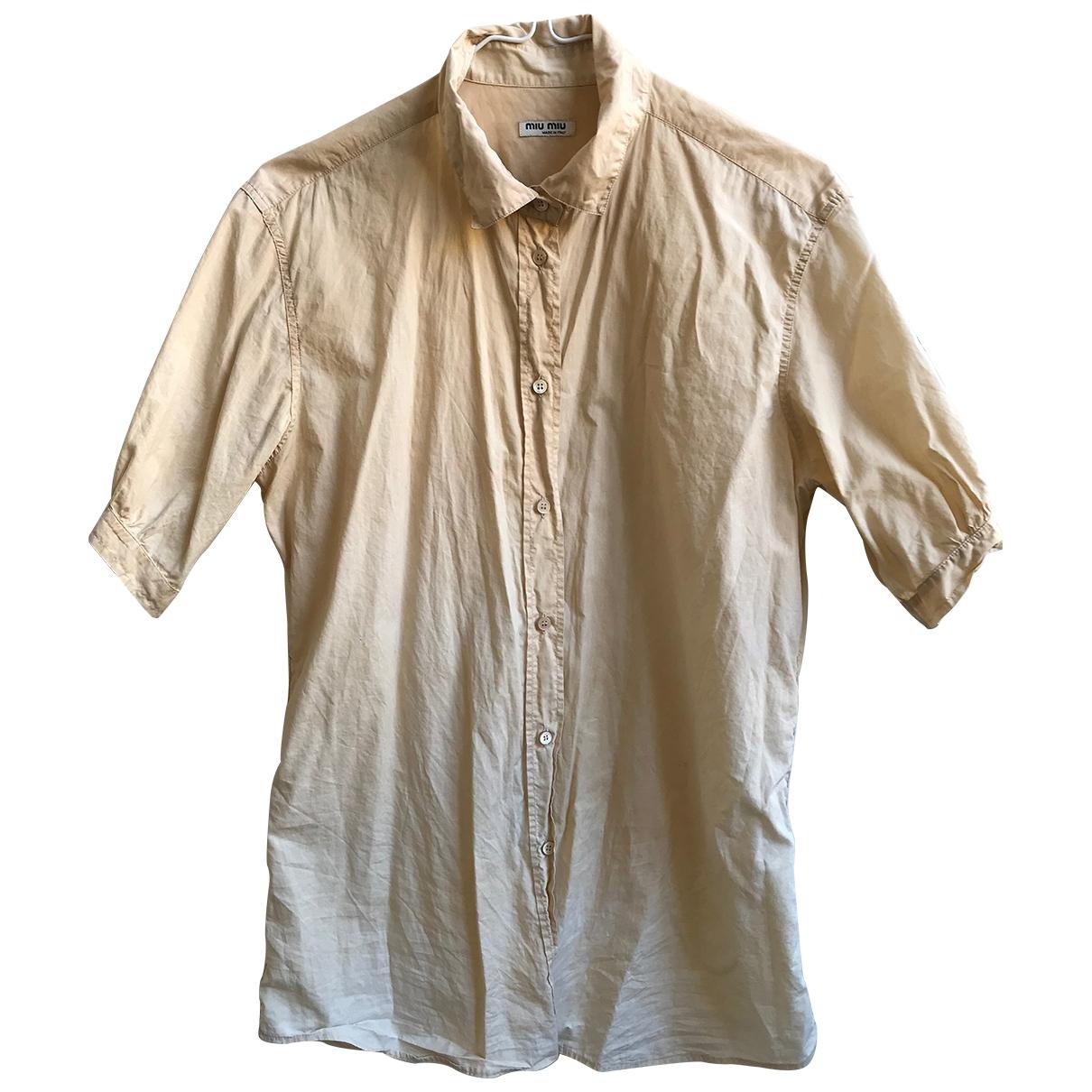 Miu Miu \N Beige Cotton  top for Women 40 IT