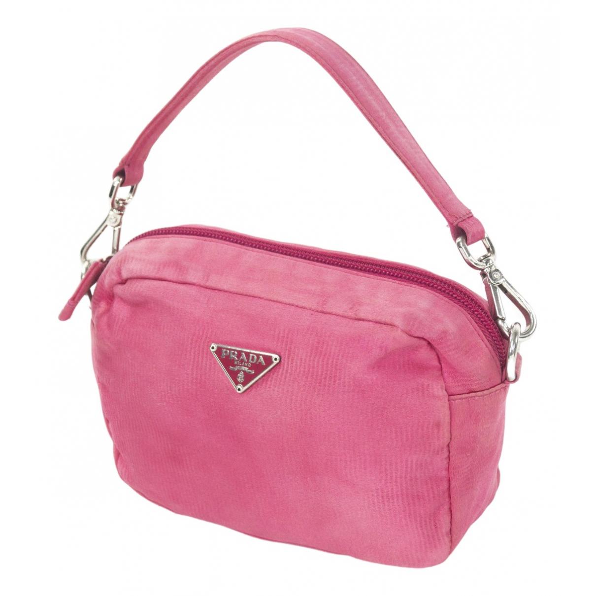 Prada Tessuto  Handtasche in  Rosa Samt