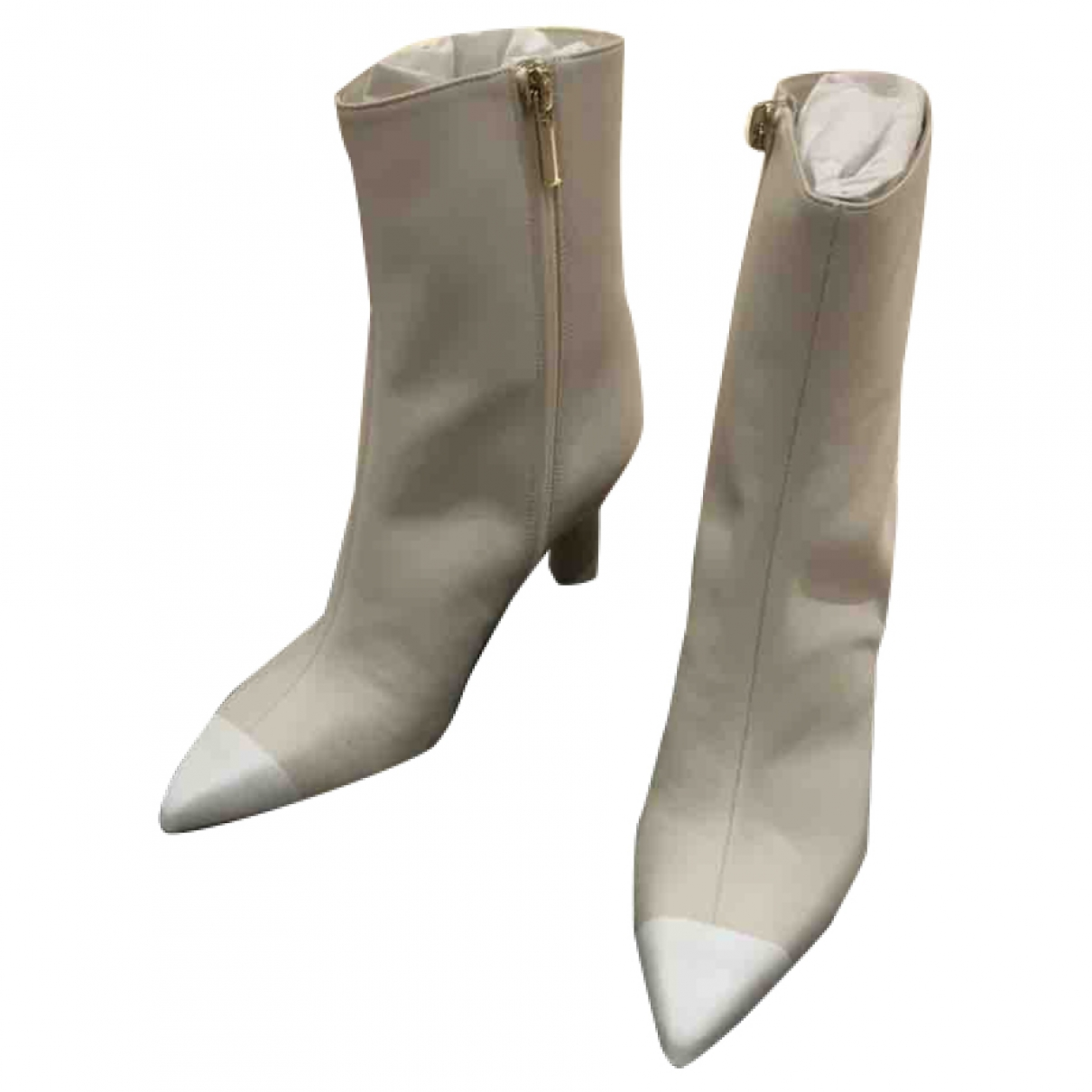 Tibi \N Beige Leather Ankle boots for Women 3 UK