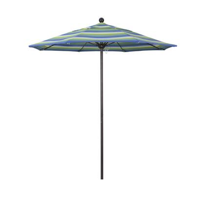 ALTO758117-5608 7.5' Venture Series Commercial Patio Umbrella With Bronze Aluminum Pole Fiberglass Ribs Push Lift With Sunbrella 1A Seville Seaside
