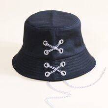 Chain Decor Bucket Hat