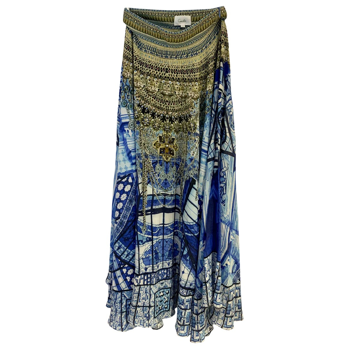 Camilla \N Blue Silk skirt for Women 1 0-5