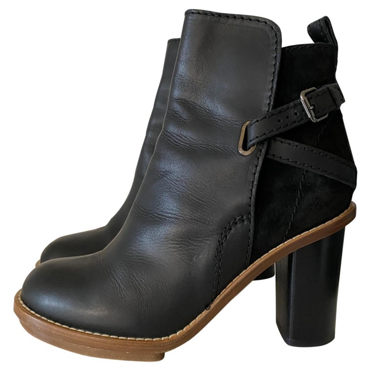 Acne Studios - Boots Cypress pour femme en cuir - noir