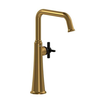 Momenti MMSQL01+BGBK-10 Single Hole Lavatory Faucet with + Cross Handle 1.0 GPM  in Brushed