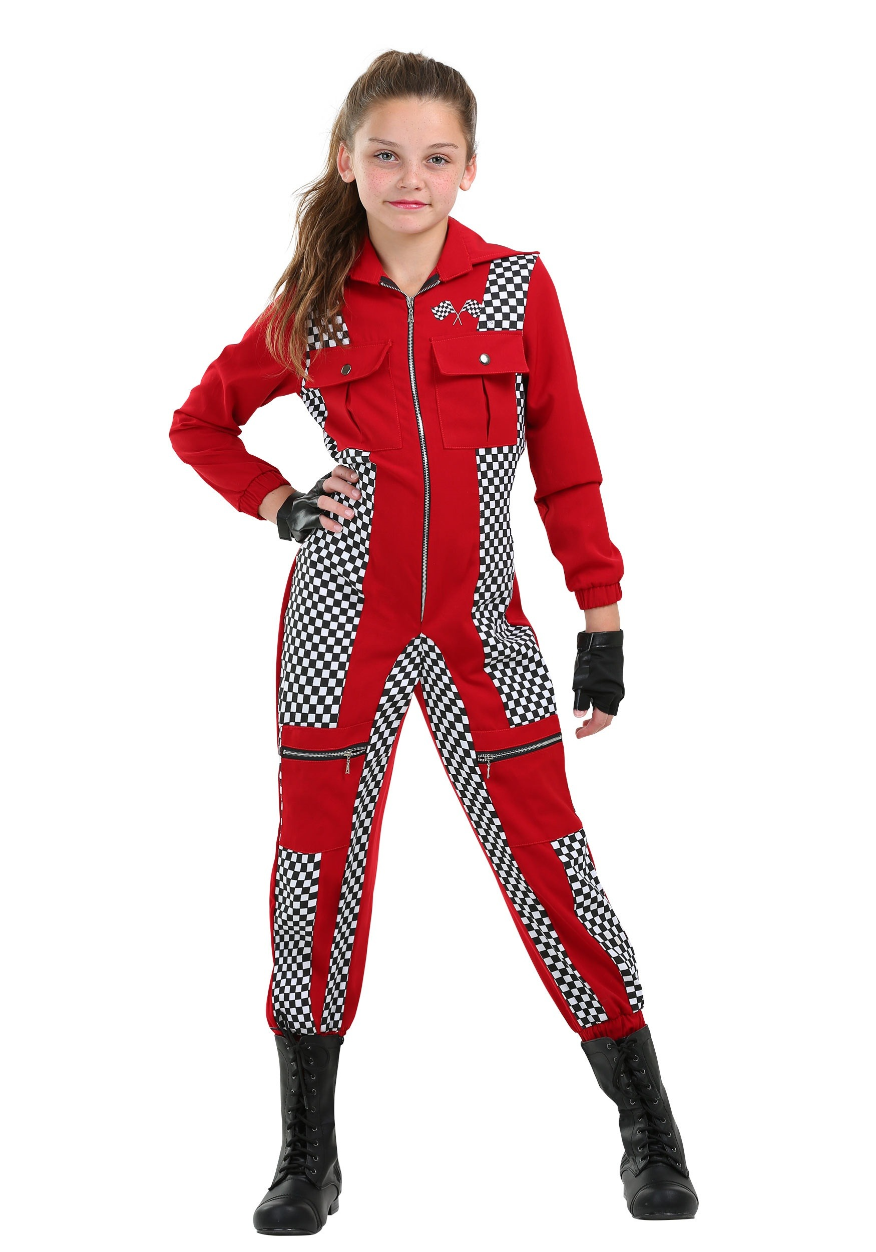 Racer Jumpsuit Costume for Girls | Exclusive | Made By Us