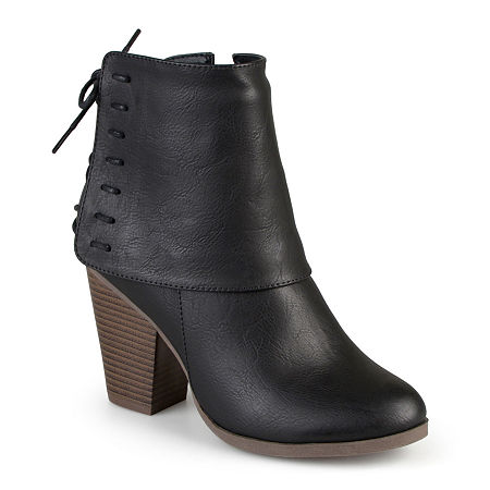 Journee Collection Womens Ayla Ankle Booties, 8 Medium, Black
