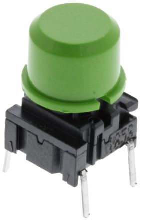 MEC IP67 Single Pole Single Throw (SPST) Green Keyboard Switch, 50 mA @ 24 V dc, -40 → +115°C