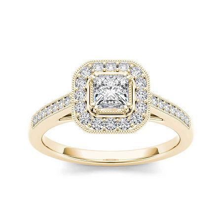 Diamond 14K Yellow Gold Engagement Ring 2, 6 1/2 , No Color Family