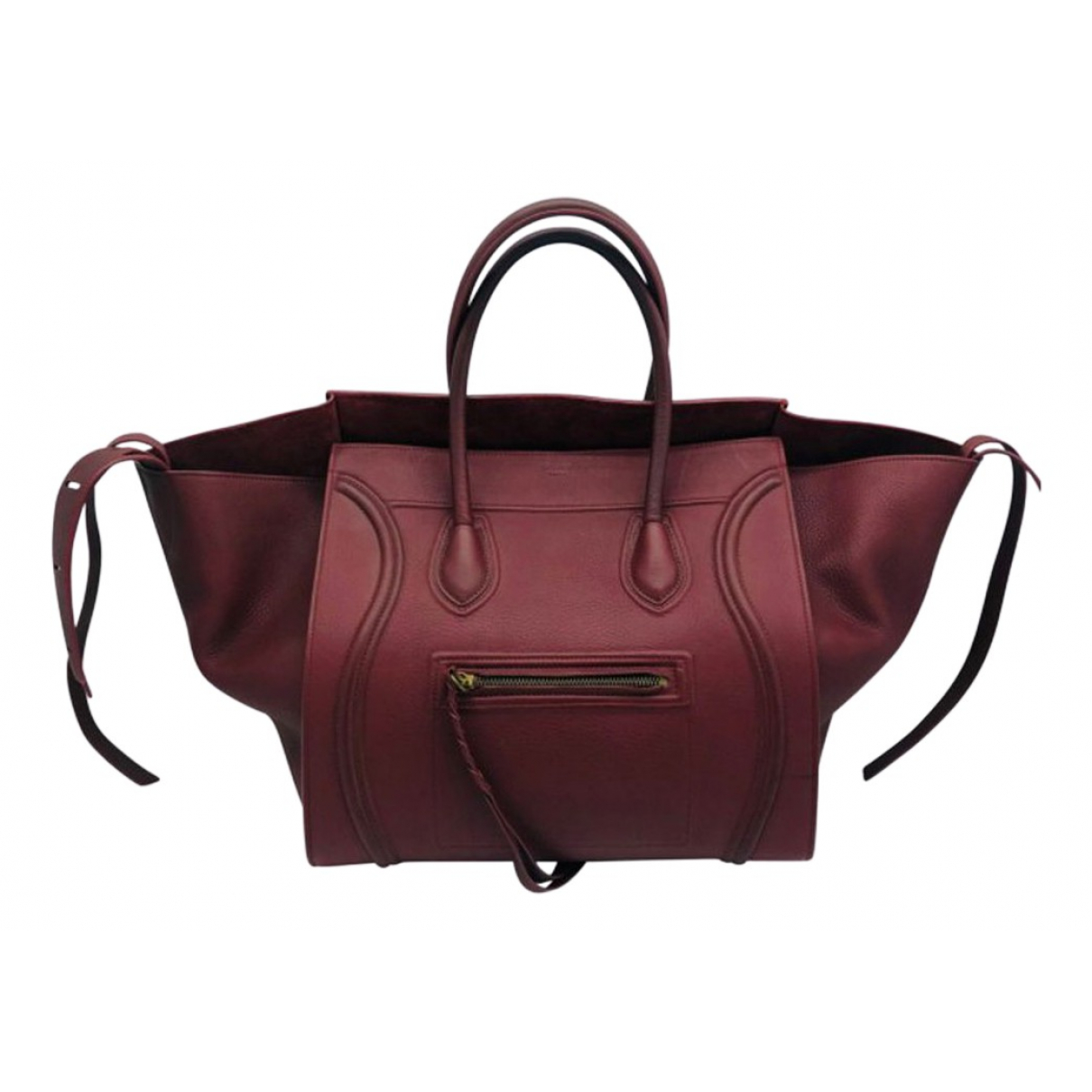 Celine Luggage Phantom Red Leather handbag for Women \N