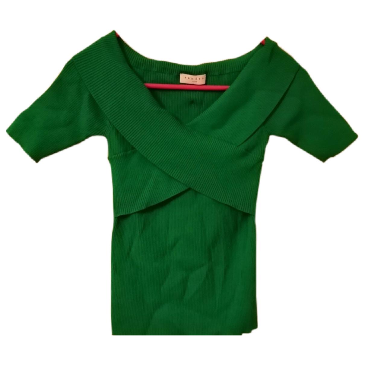Sandro N Green Cotton  top for Women 8 UK