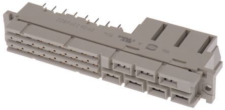 HARTING , 09 06 24 + 7 Way 3.81 mm, 5.08 mm, 6.5 mm, 10.16 mm Pitch, Type MH Class C2, 2/3 Row, Straight DIN 41612