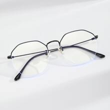 Men Geometric Design Glasses