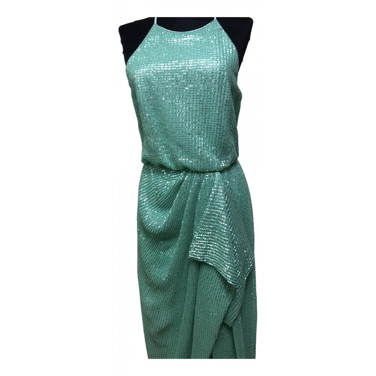 Badgley Mischka \N Kleid in  Tuerkis Polyester