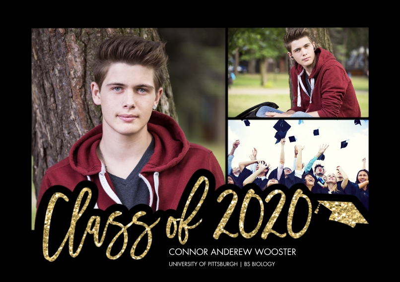 2020 Graduation Announcements 5x7 Cards, Premium Cardstock 120lb with Scalloped Corners, Card & Stationery -2020 Scripted by Tumbalina