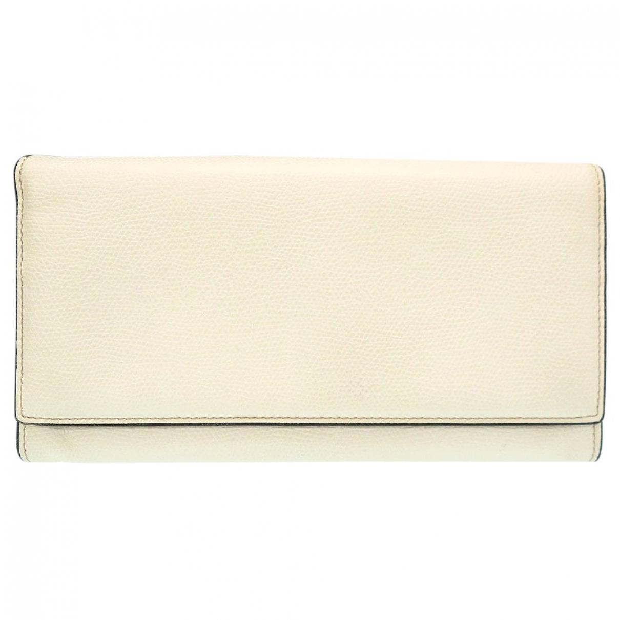 Valextra - Portefeuille   pour femme en cuir - blanc