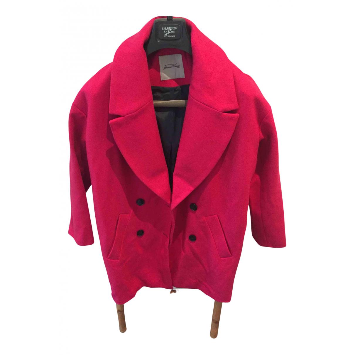 American Vintage \N Maentel in  Rosa Wolle