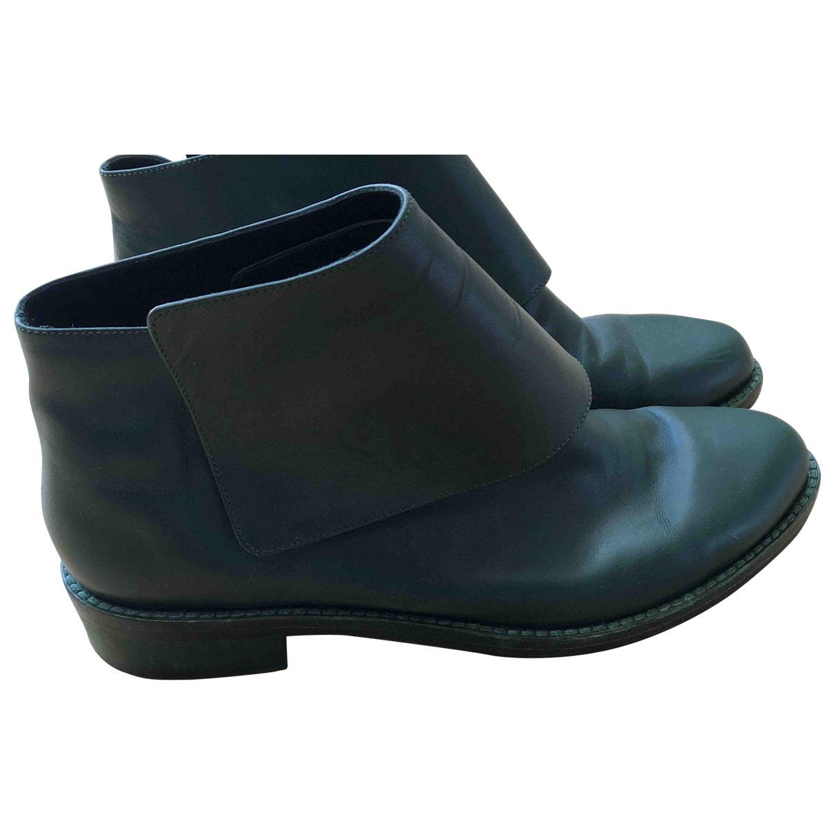 & Stories \N Green Leather Boots for Women 41 EU