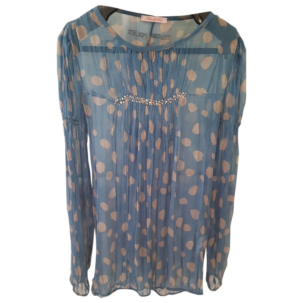Blumarine \N Top in  Blau Seide