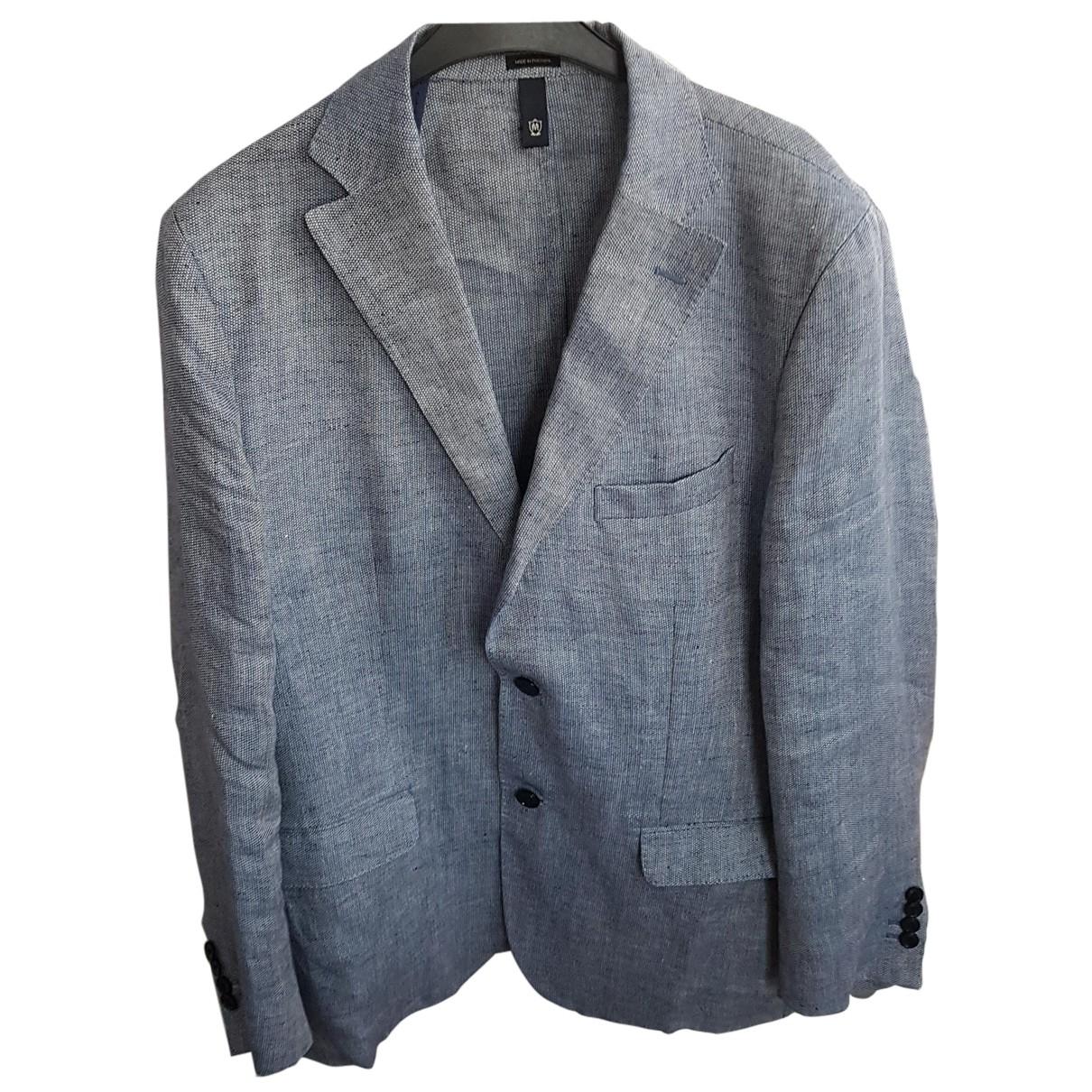 Massimo Dutti - Vestes.Blousons   pour homme en lin - gris