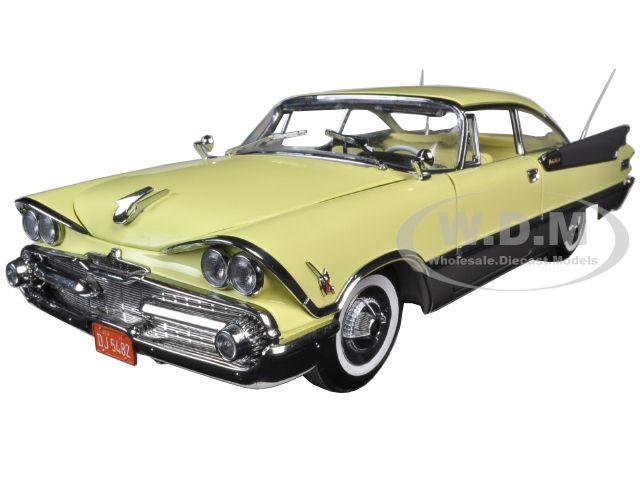 1959 Dodge Custom Royal Lancer Hard Top Yellow Platinum Edition 1/18 Diecast Model Car by Sunstar
