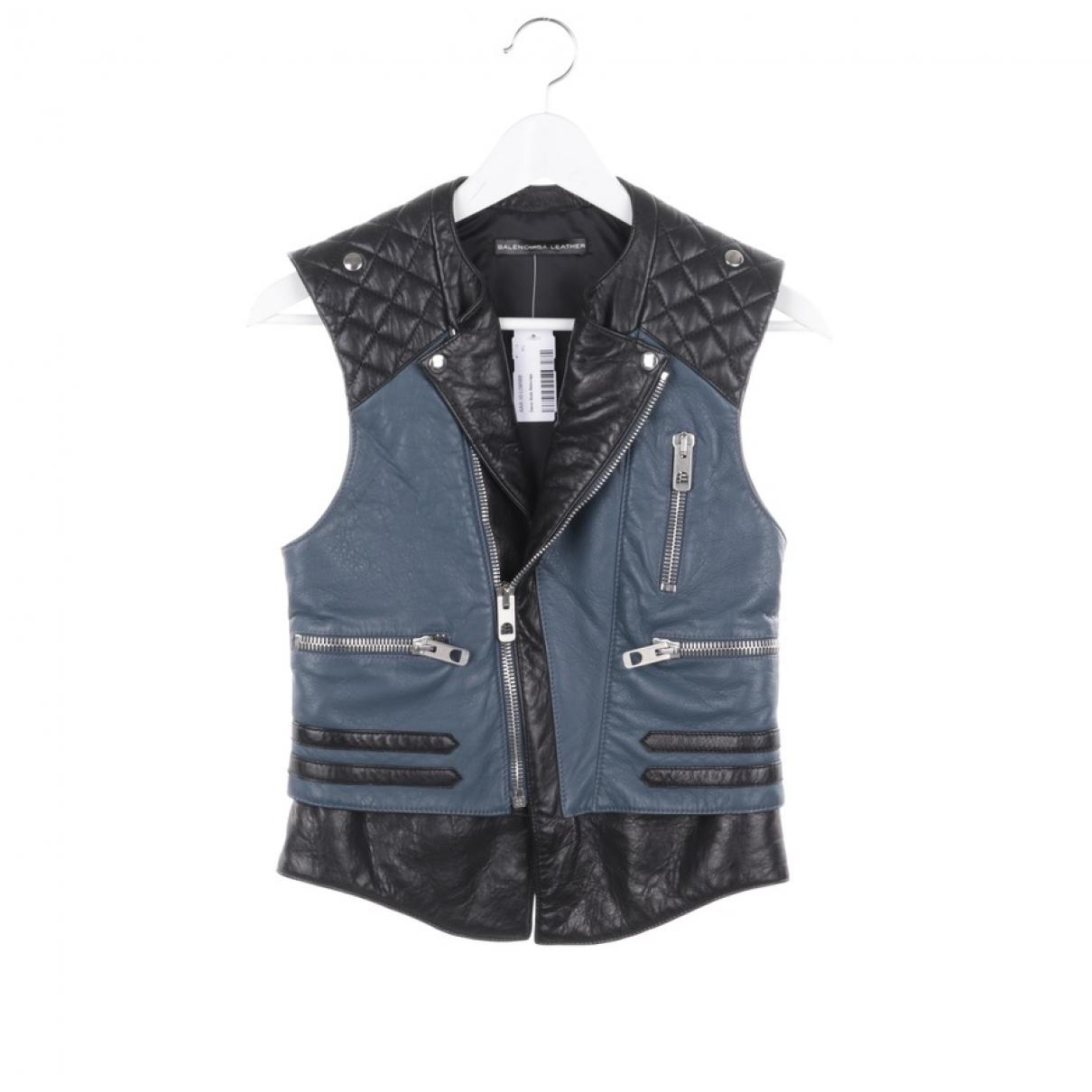 Balenciaga \N Blue Leather jacket for Women 36 FR