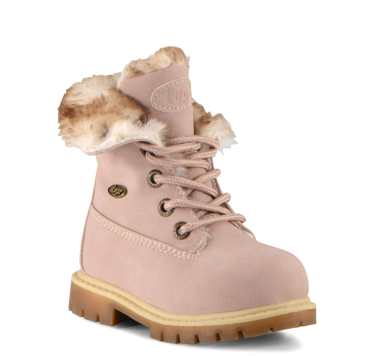 Toddler Convoy Fold Fur 6-Inch Boot (Choose Your Color: SOFT PINK/TAN-KHAKI/GUM, Choose Your Size: 10.0)
