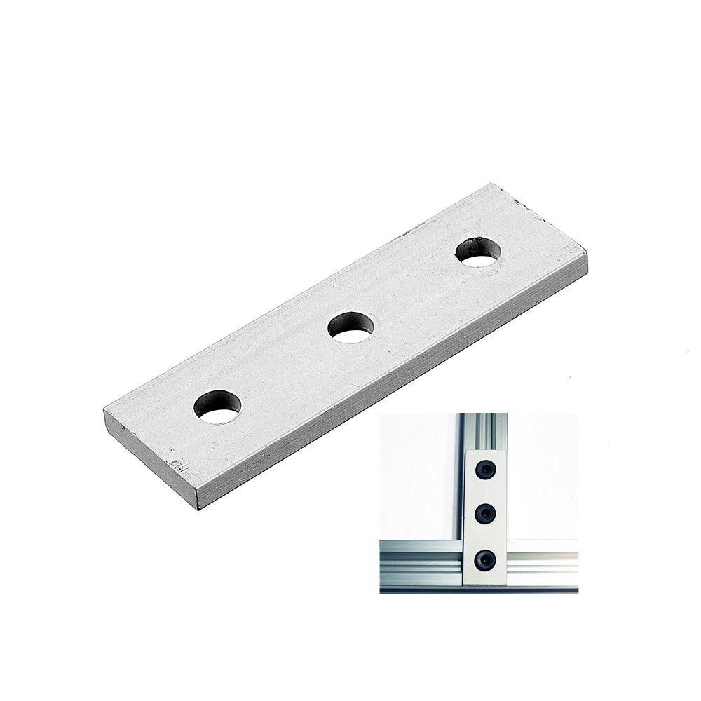 Machifit Aluminum Alloy 3 Hole Joining Strip Plate for CNC Router 2020 V-Slot T-Slot Aluminum Extrusions Profiles