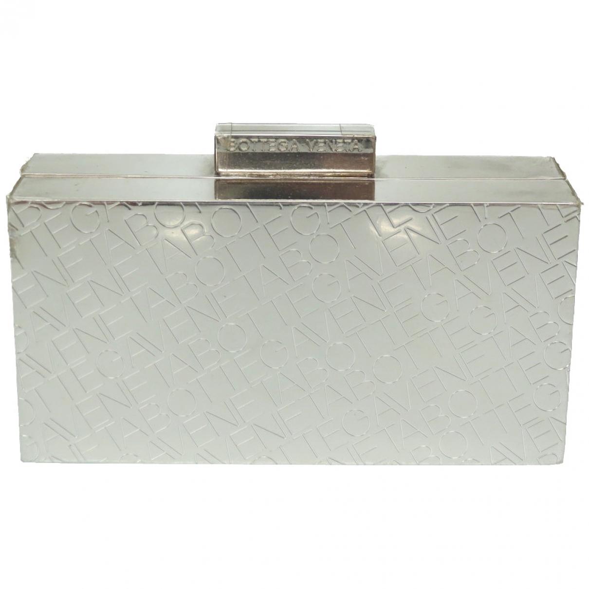 Bolsos clutch en Metal Plateado Bottega Veneta