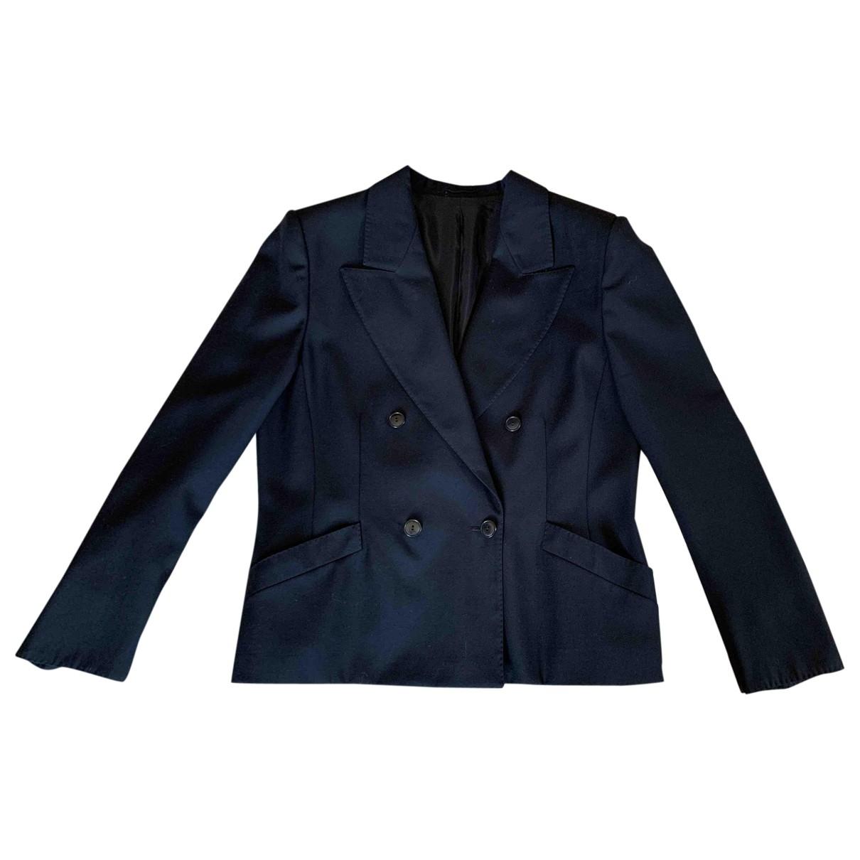 Max Mara - Veste   pour femme en laine - bleu