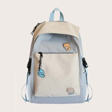 Two Tone Large Capacity Backpack