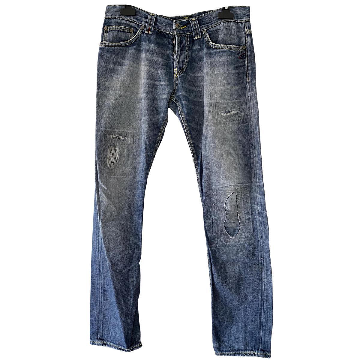 Dondup N Blue Cotton Jeans for Men 33 US