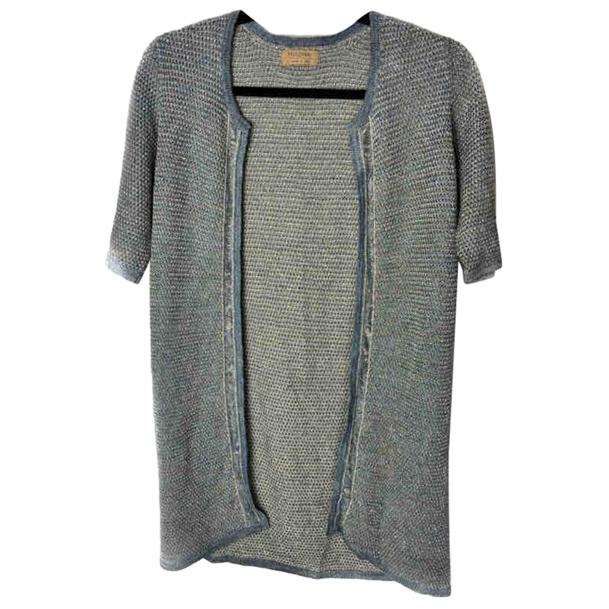 Falconeri - Pull   pour femme en coton - bleu