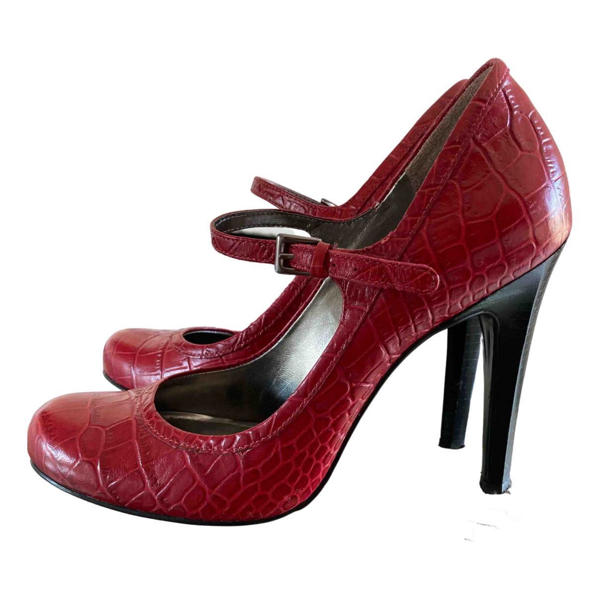 Guess \N Red Leather Heels for Women 38 EU