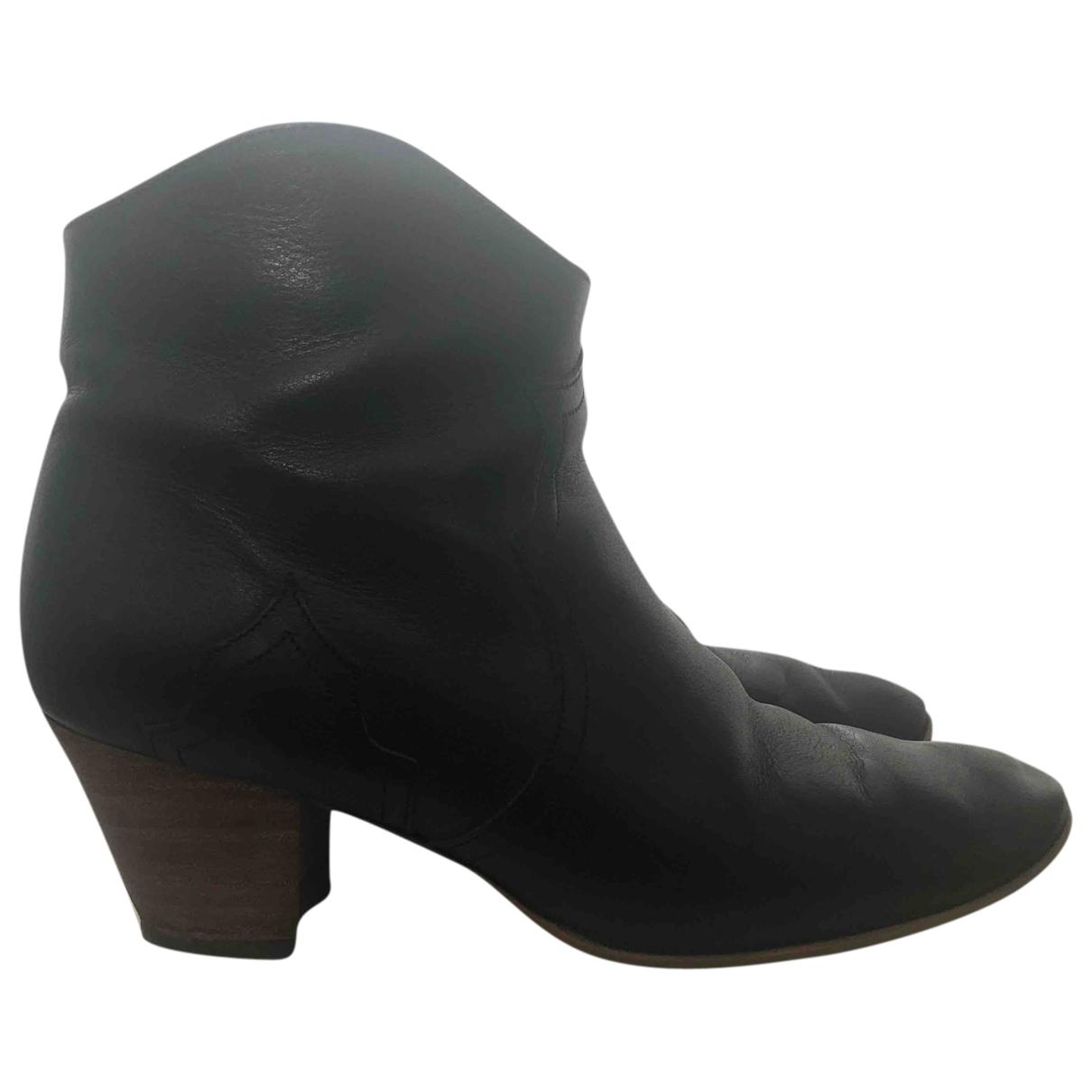 Isabel Marant - Boots Dicker pour femme en cuir - noir