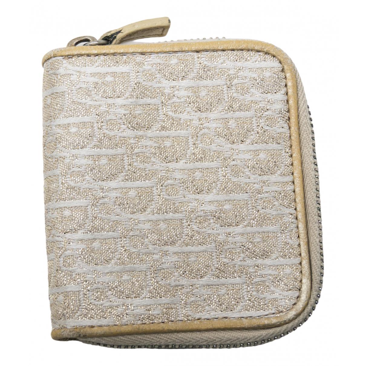 Dior \N Gold Cloth wallet for Women \N