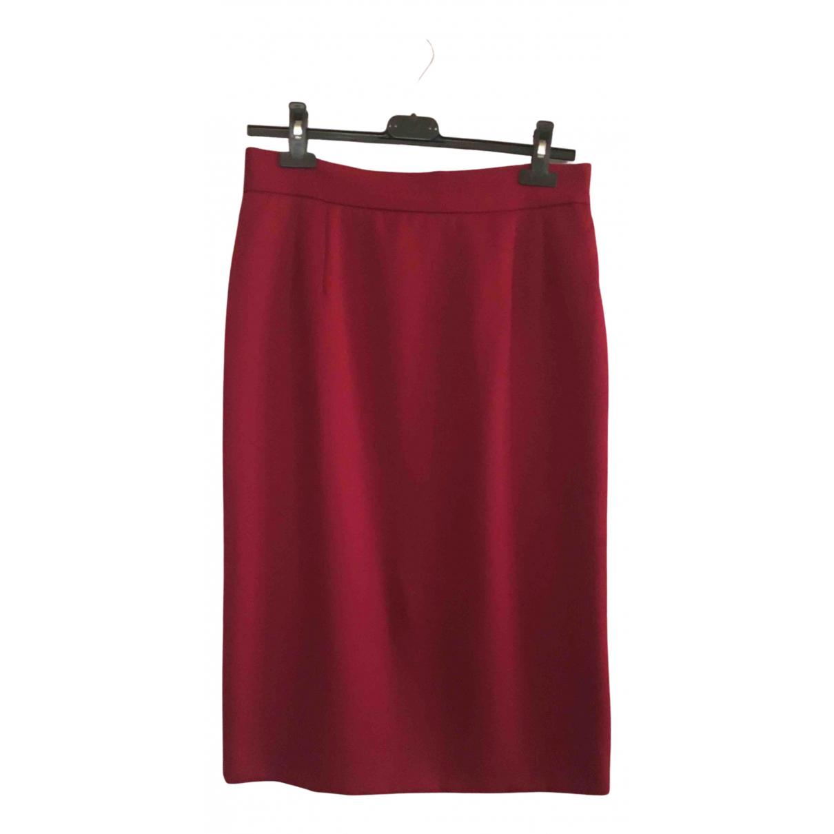 Dior - Jupe   pour femme en laine - rouge