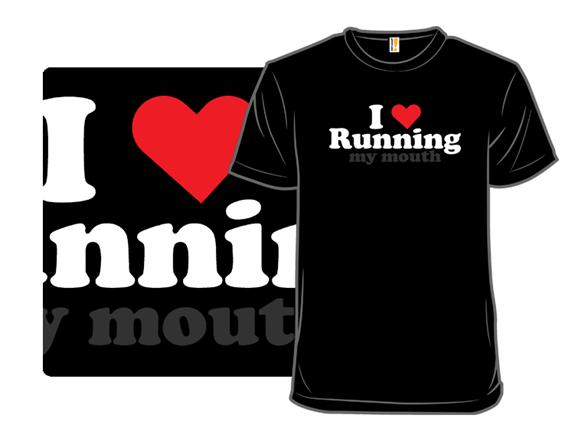 I Love Running T Shirt