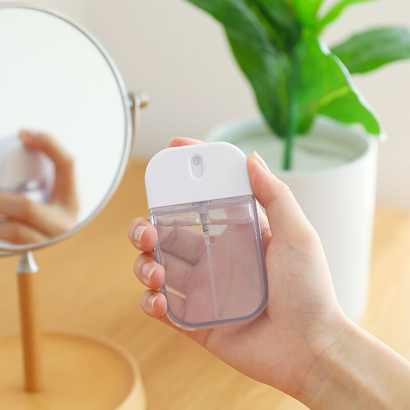 1Pc Transparent Empty Spray Bottles 35ml Plastic Mini Refillable Container Empty Cosmetic Containers Travel Perfume Bott