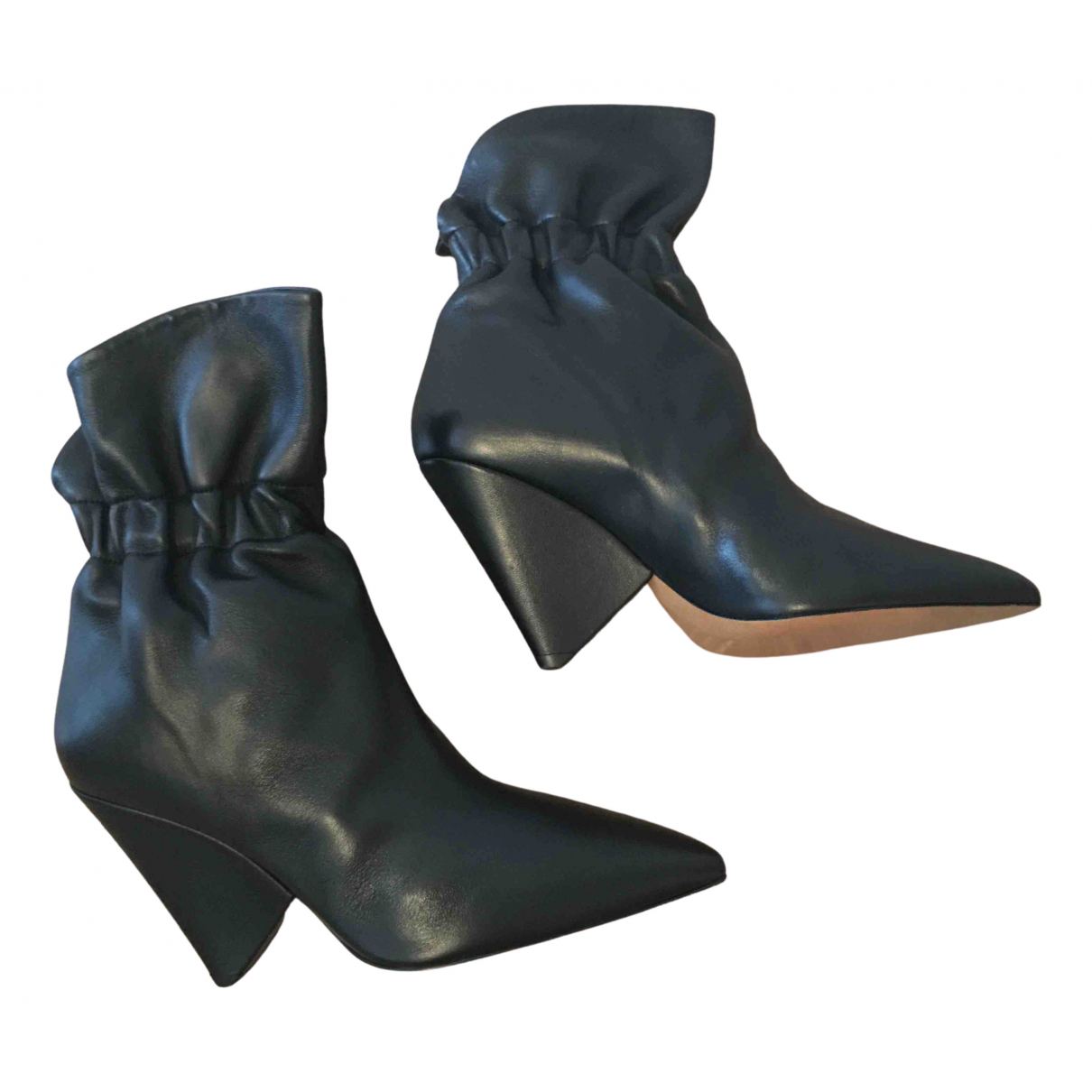 Isabel Marant - Boots Lileas pour femme en cuir - noir