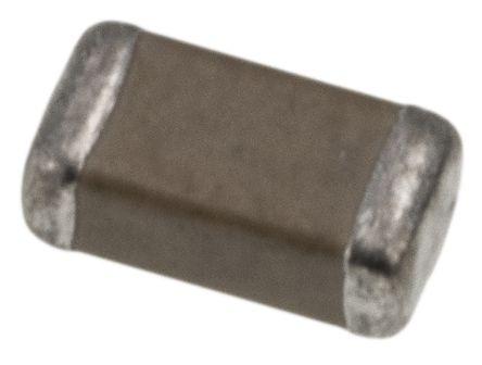 Yageo 1206 (3216M) 100nF Multilayer Ceramic Capacitor MLCC 100V dc ±10% SMD CC1206KKX7R0BB104 (25)