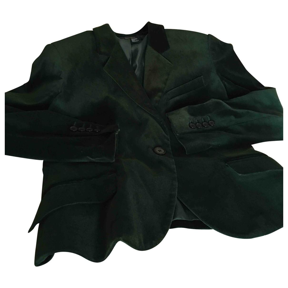 Zara \N Jacke in  Gruen Samt