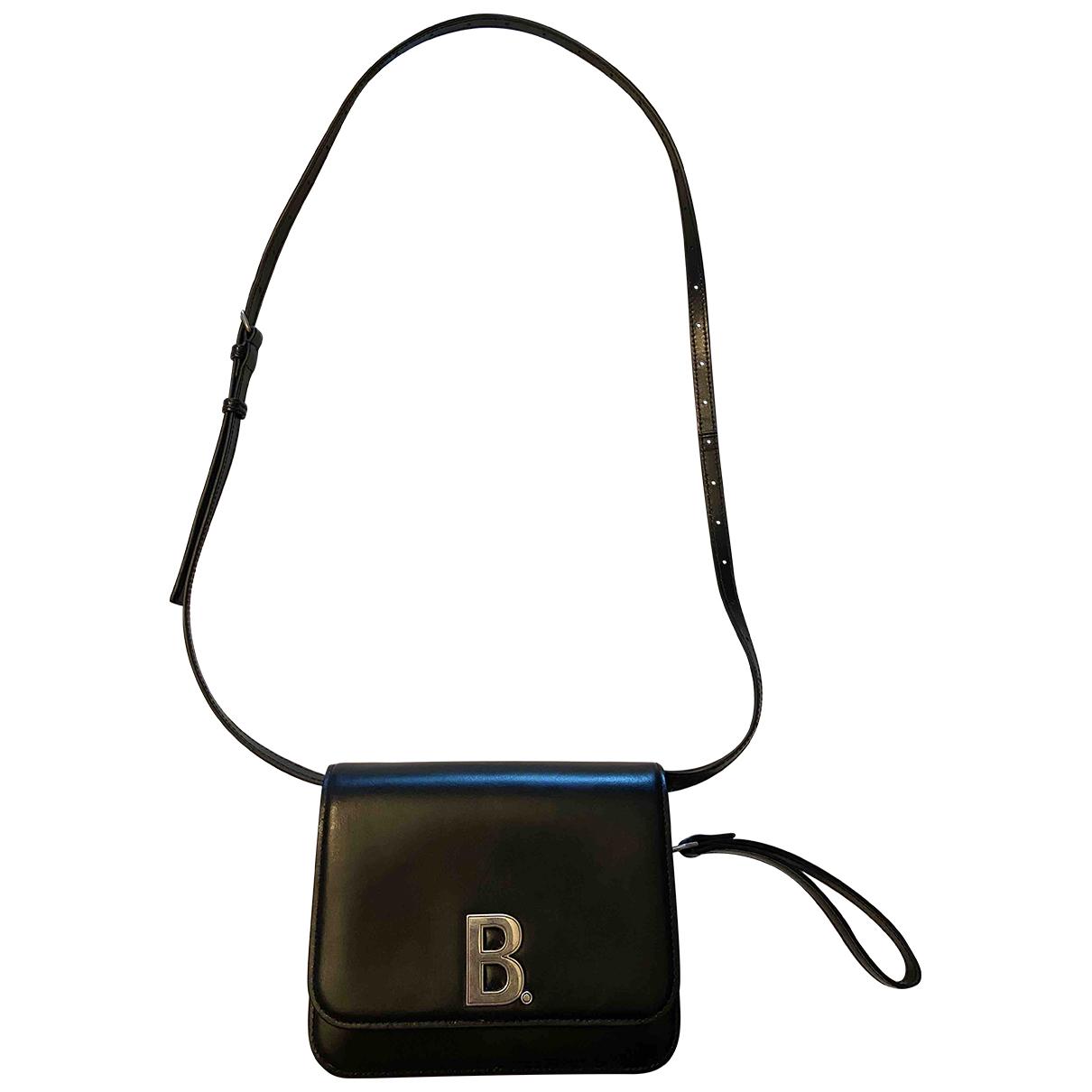 Balenciaga - Sac a main B pour femme en cuir - noir