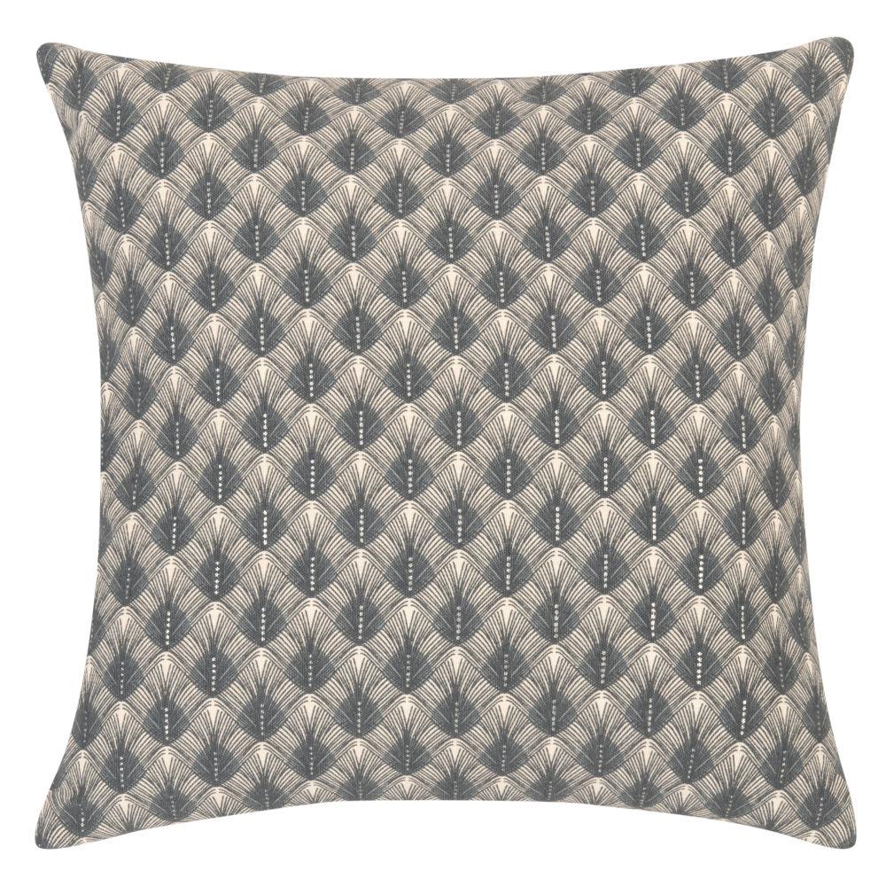 Kissenbezug aus Baumwolle, blau und weiss, mit grafischen Motiven 40x40