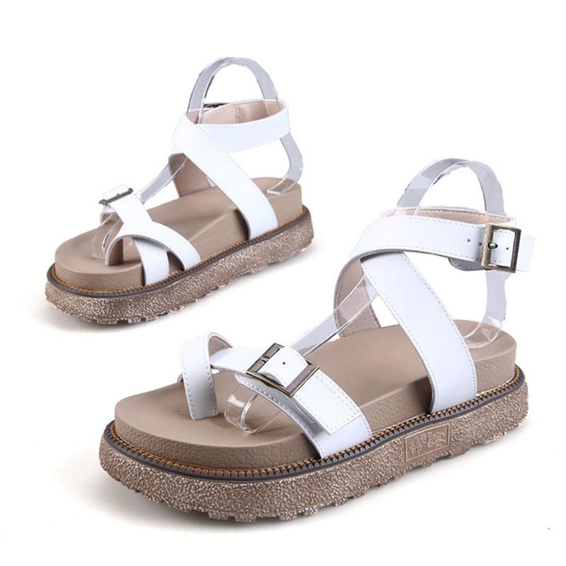 Ericdress Toe Ring Platform Buckle Casual Sandals