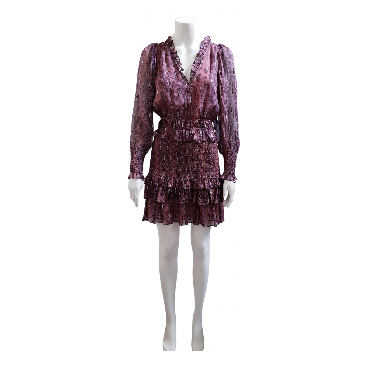 Rebecca Taylor \N Kleid in  Rosa Seide
