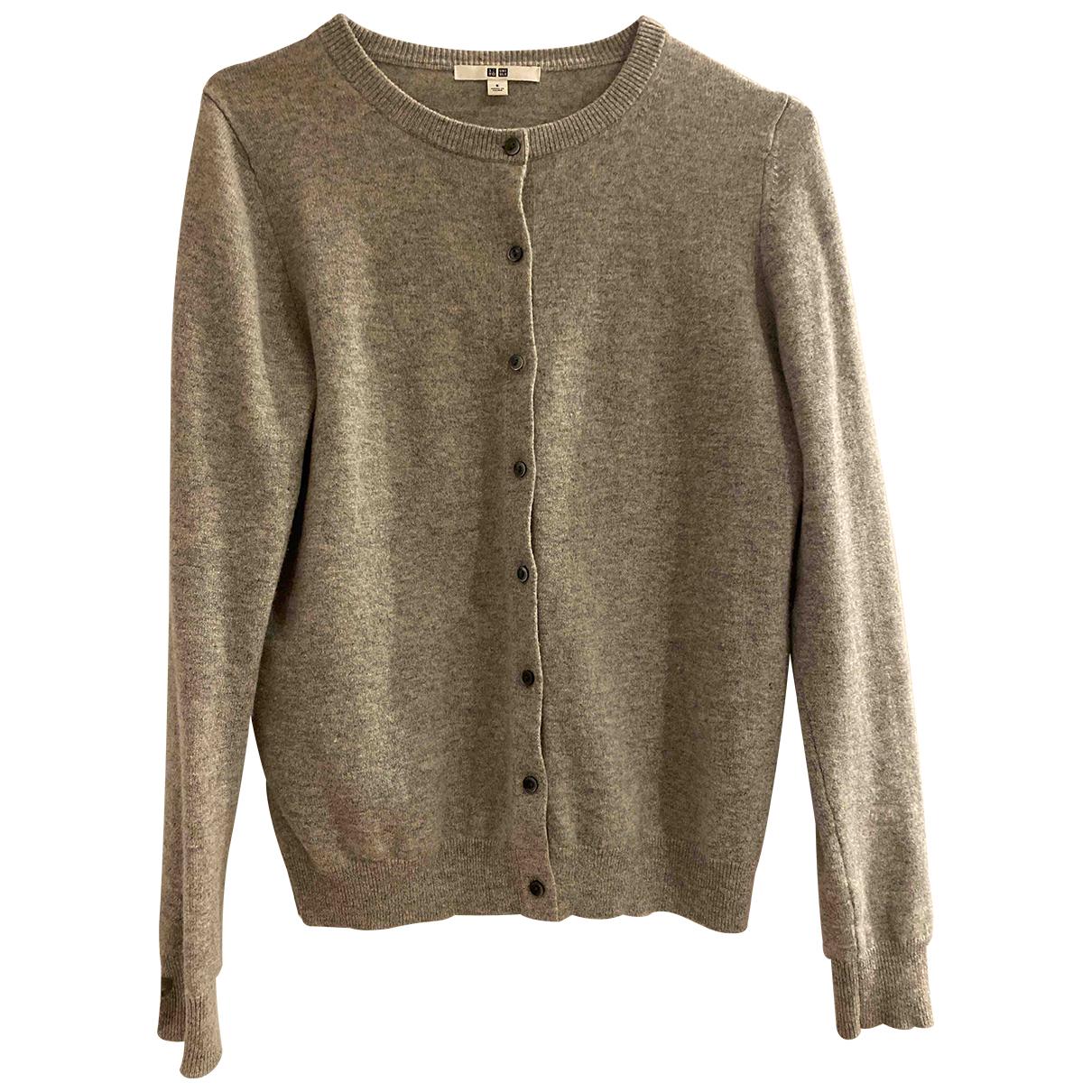 Uniqlo - Pull   pour femme en cachemire - gris