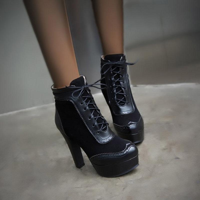 Ericdress Closed Toe Stiletto Heel Patchwork Short Floss Boots