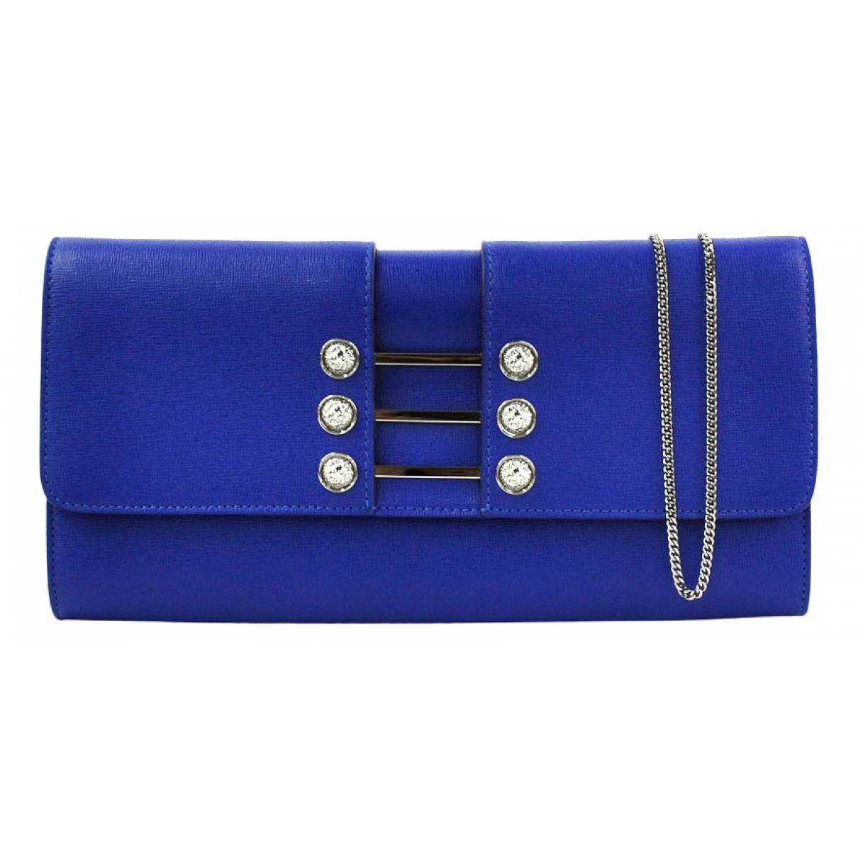 Versace \N Blue Leather Clutch bag for Women \N