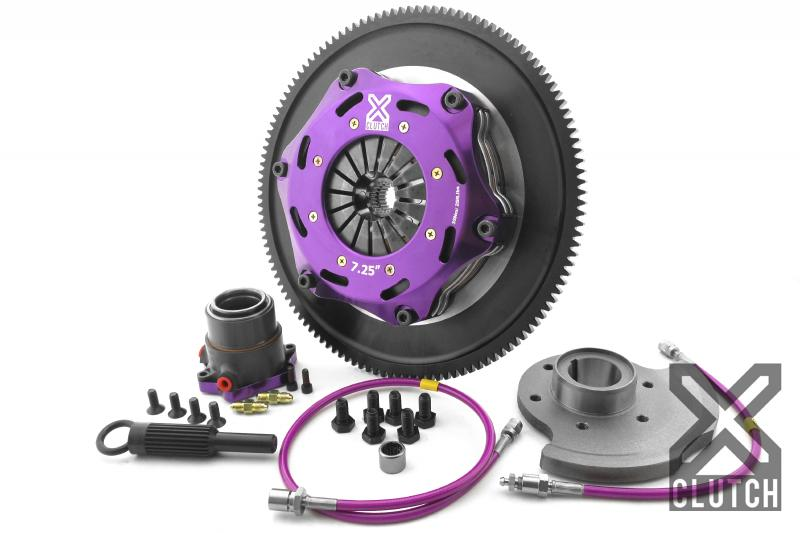 XClutch XKMZ18680-2E Clutch Kit with Chromoly Flywheel + HRB 7.25 and Twin Solid Ceramic Discs Mazda RX-7 1993-1995 1.3L 2-Cylinder