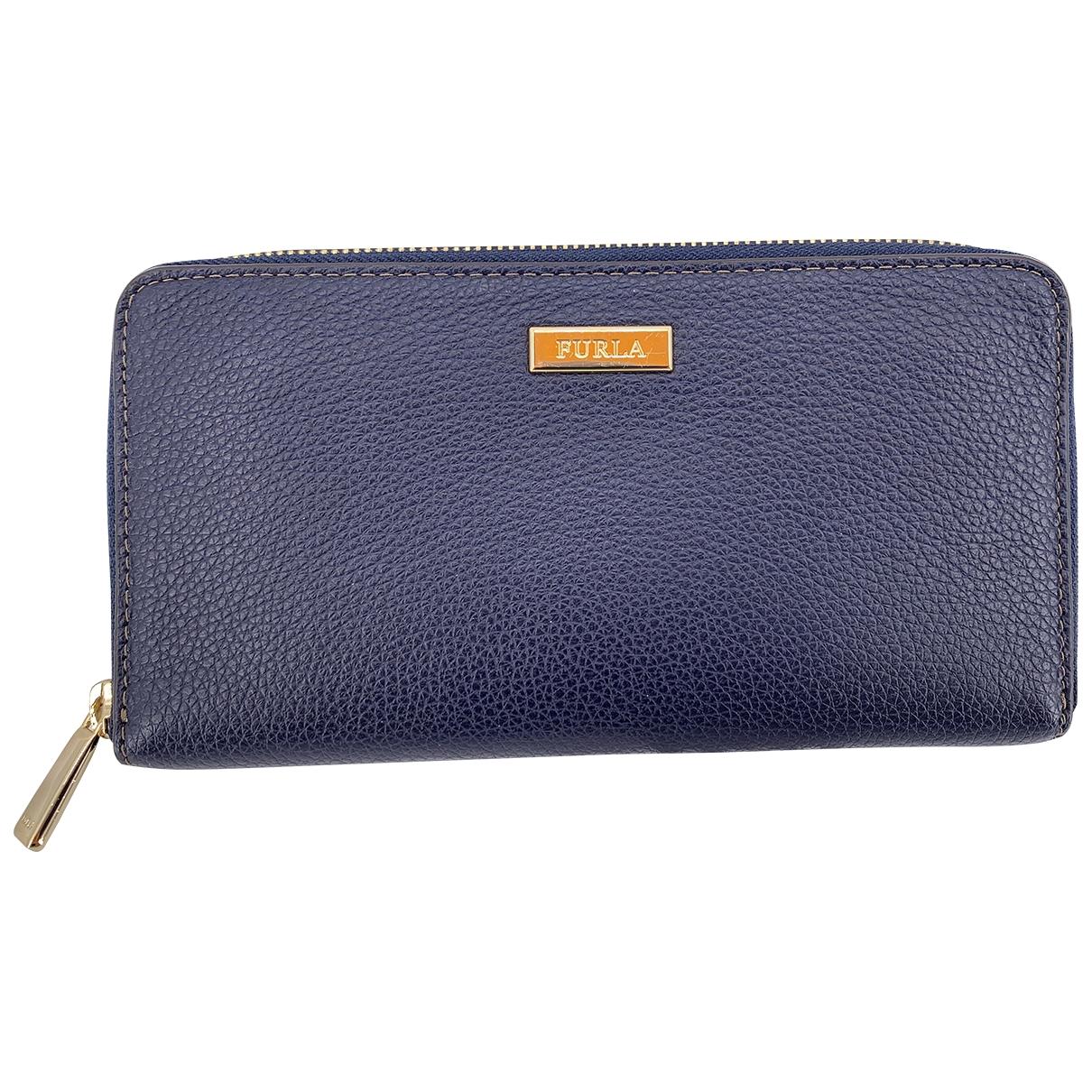 Furla \N Portemonnaie in  Blau Leder